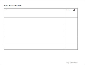 Project Handover Checklist | Change with Confidence