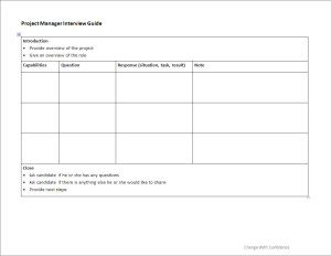 Project Manager Interview Guide  Interview Question Template