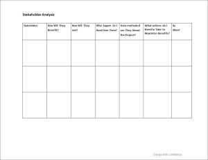 stakeholder analysis change with confidence